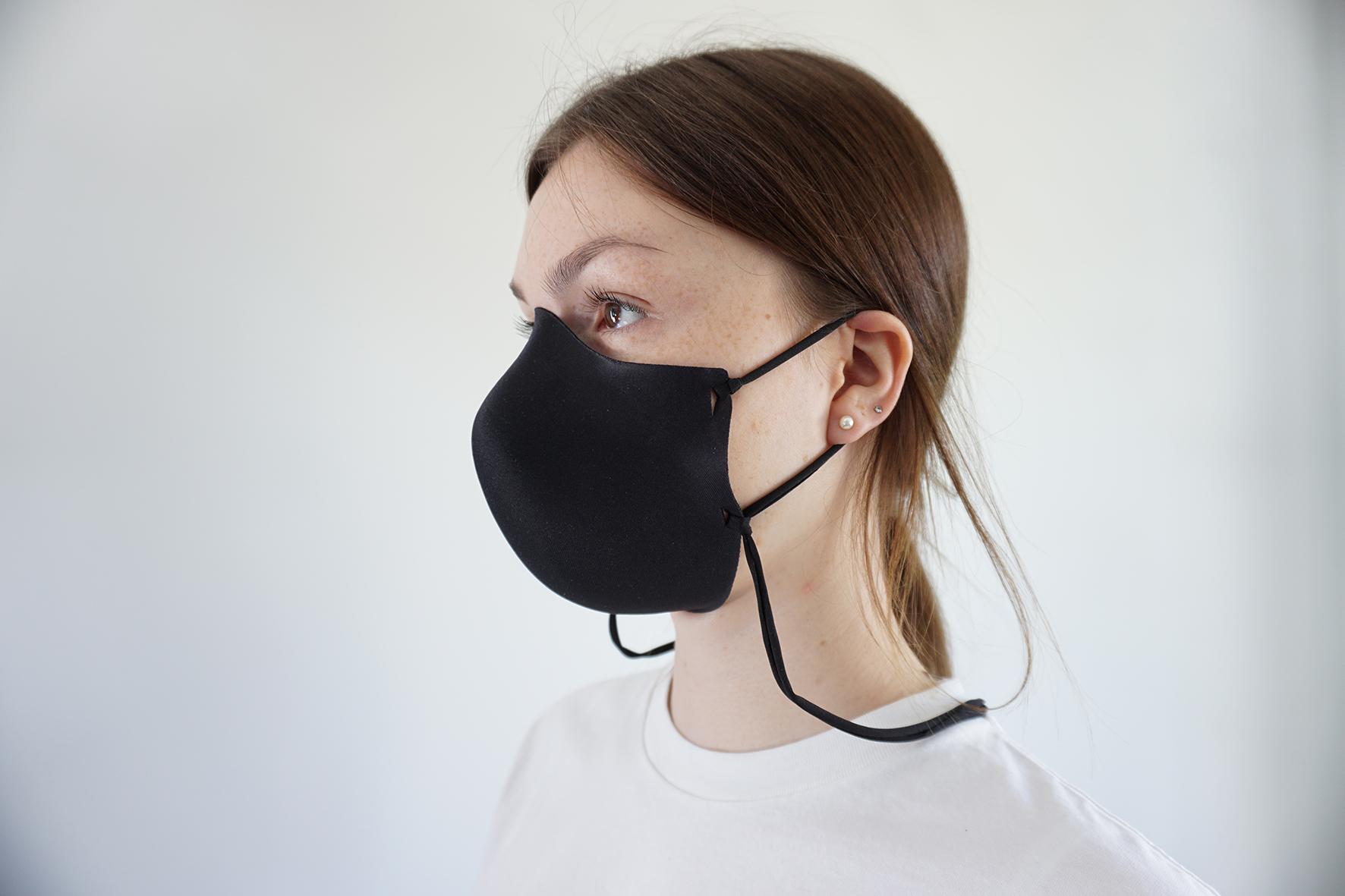 Behelfsmaske aus Uni-Stoff ohne Naht