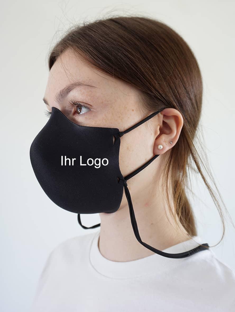 Behelfsmaske mit 1- bis 4-farbigem Logo-Druck, ohne Naht
