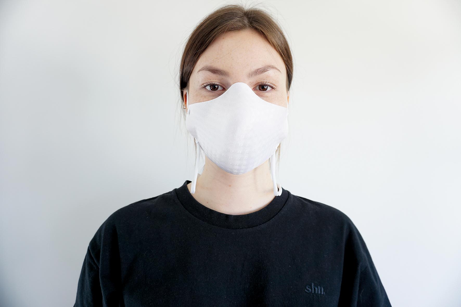 Behelfsmaske aus Jacquard-Stoff ohne Naht